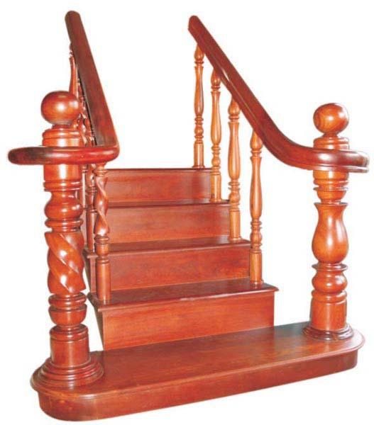 Cầu thang gỗ tự nhiên - CT01