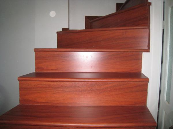 Mặt bậc cầu thang gỗ gõ đỏ Lào